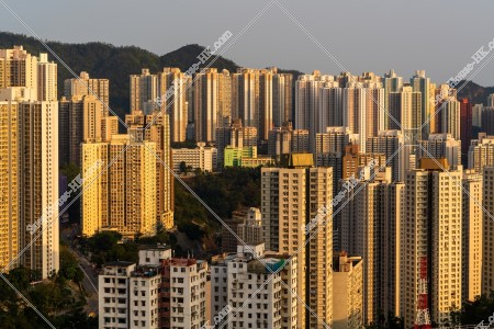 九龍東の夕方の街並みの風景 その①