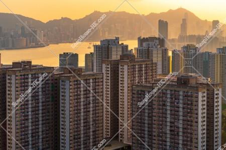 九龍東の夕方の街並みの風景 その④