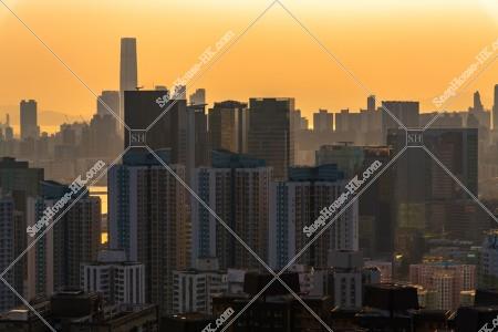 九龍の夕方の都市風景 その④