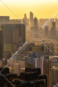 九龍の夕方の都市風景 その⑤