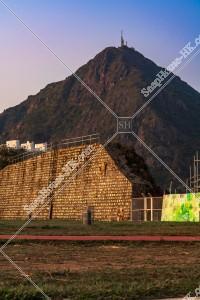 夕方の飛鵝山