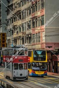 香港トラムとシティバス(城巴)