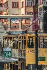 北角の街並みと香港トラム その④