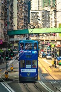 炮台山の街並みの風景と香港トラム その③