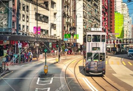 炮台山の街並みの風景と香港トラム その⑤