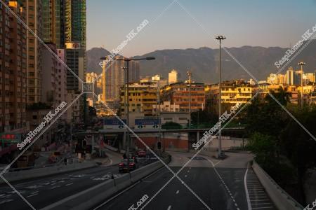 土瓜灣 夕方の古い街並みの風景 その①