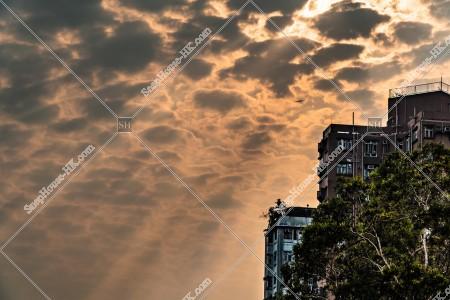 夕陽と雲 その②