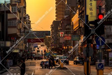 九龍城の夕方の街並み その⑫