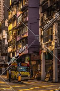 九龍城の夕方の街並み その⑯
