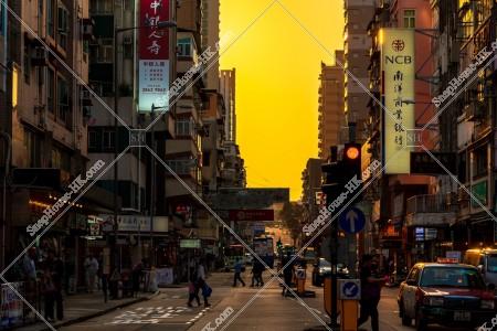 九龍城の夕方の街並み その⑰