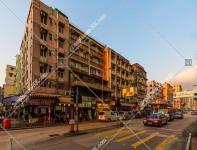 九龍城の夕方の街並み その⑲