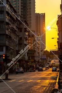 九龍城の街並みと夕陽 その⑤