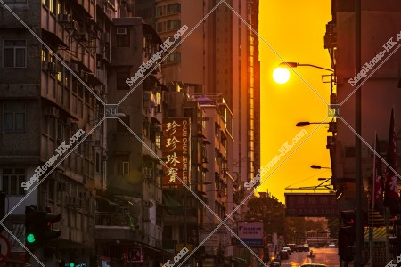 九龍城の街並みと夕陽 その⑥