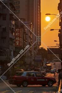 九龍城の街並みと夕陽 その⑦