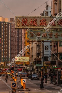 九龍城の夕方の街並みと看板 その⑥