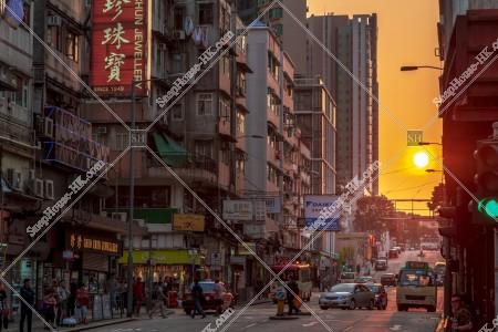 九龍城の街並みと夕陽 その⑨