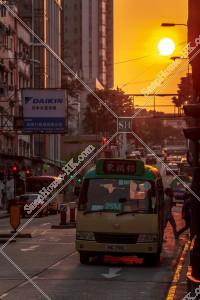 九龍城の街並みと夕陽 その⑪