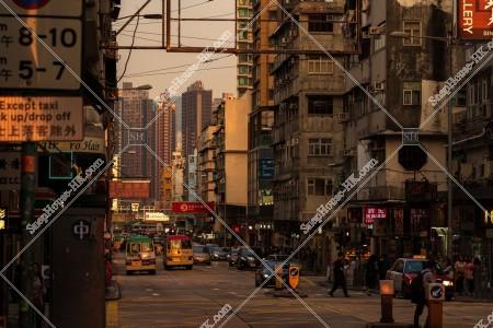 九龍城の夕方の街並み その㉒