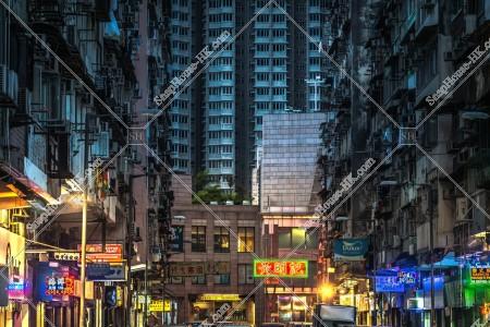 九龍城の夕方の街並み その㉜