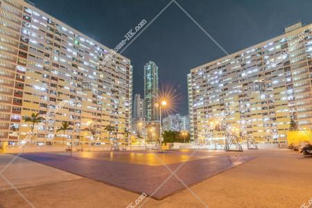 彩虹 夜の公共住宅「彩虹邨」 その⑨